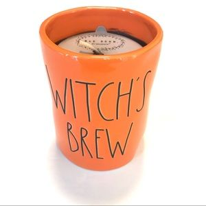 Rae Dunn Halloween Candle Witch's Brew Caramel